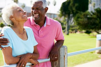 senior couples with healthy smiles